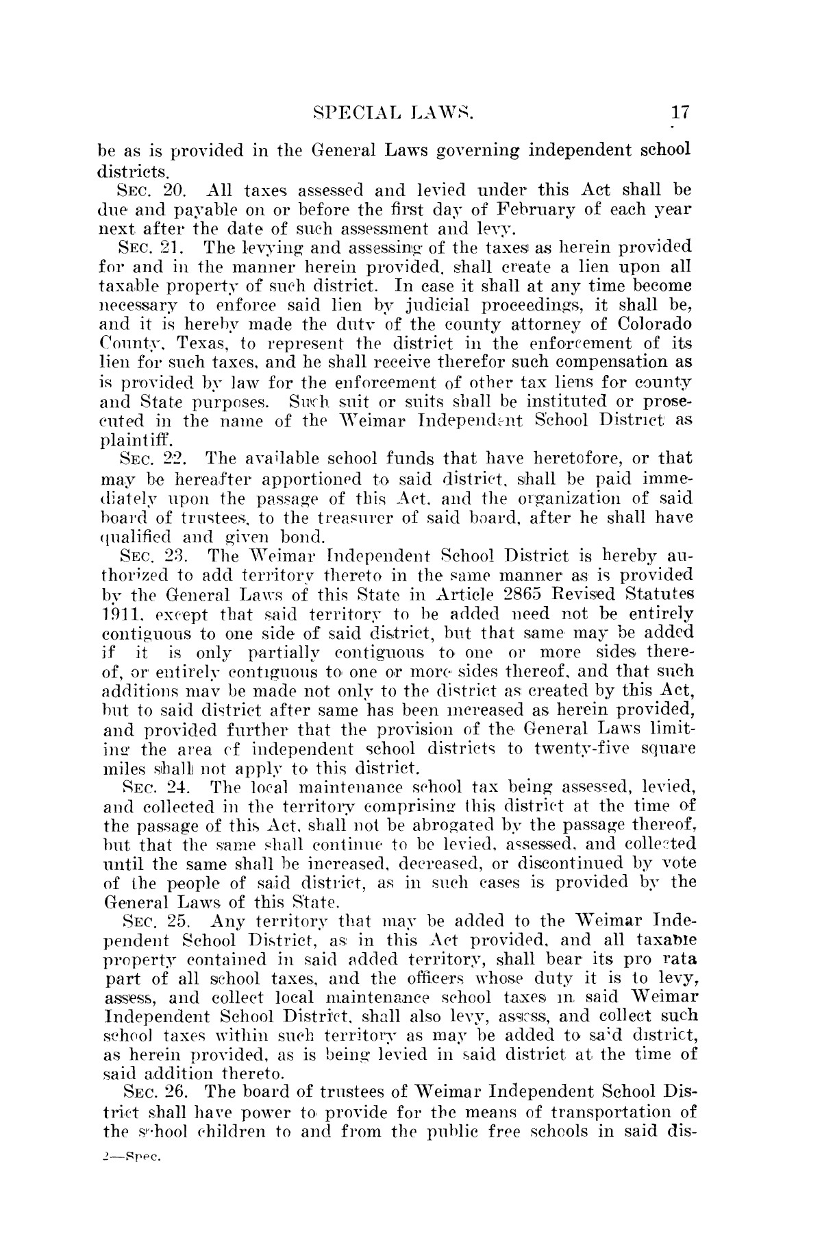 The Laws of Texas, 1923-1925 [Volume 22]                                                                                                      [Sequence #]: 27 of 1648