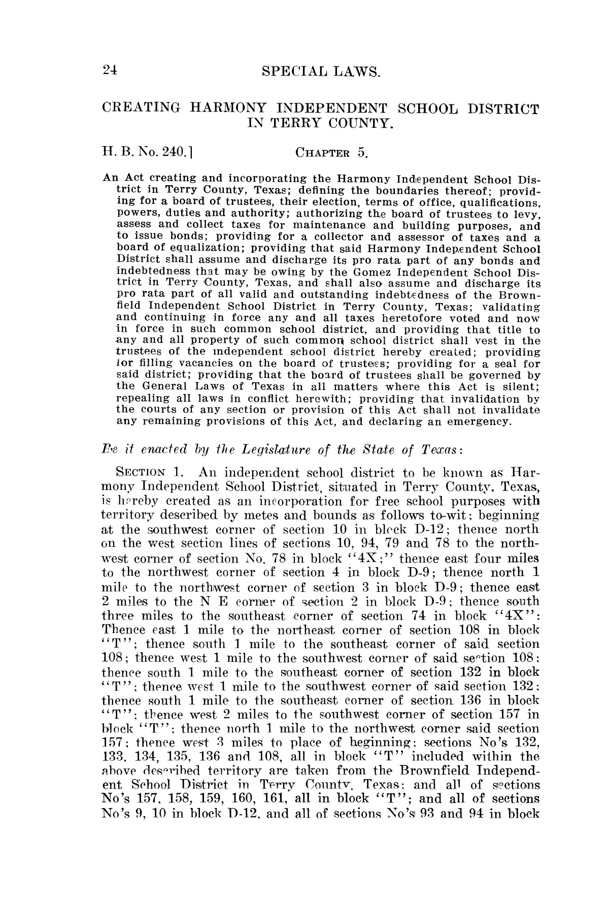 The Laws of Texas, 1923-1925 [Volume 22]                                                                                                      [Sequence #]: 34 of 1648