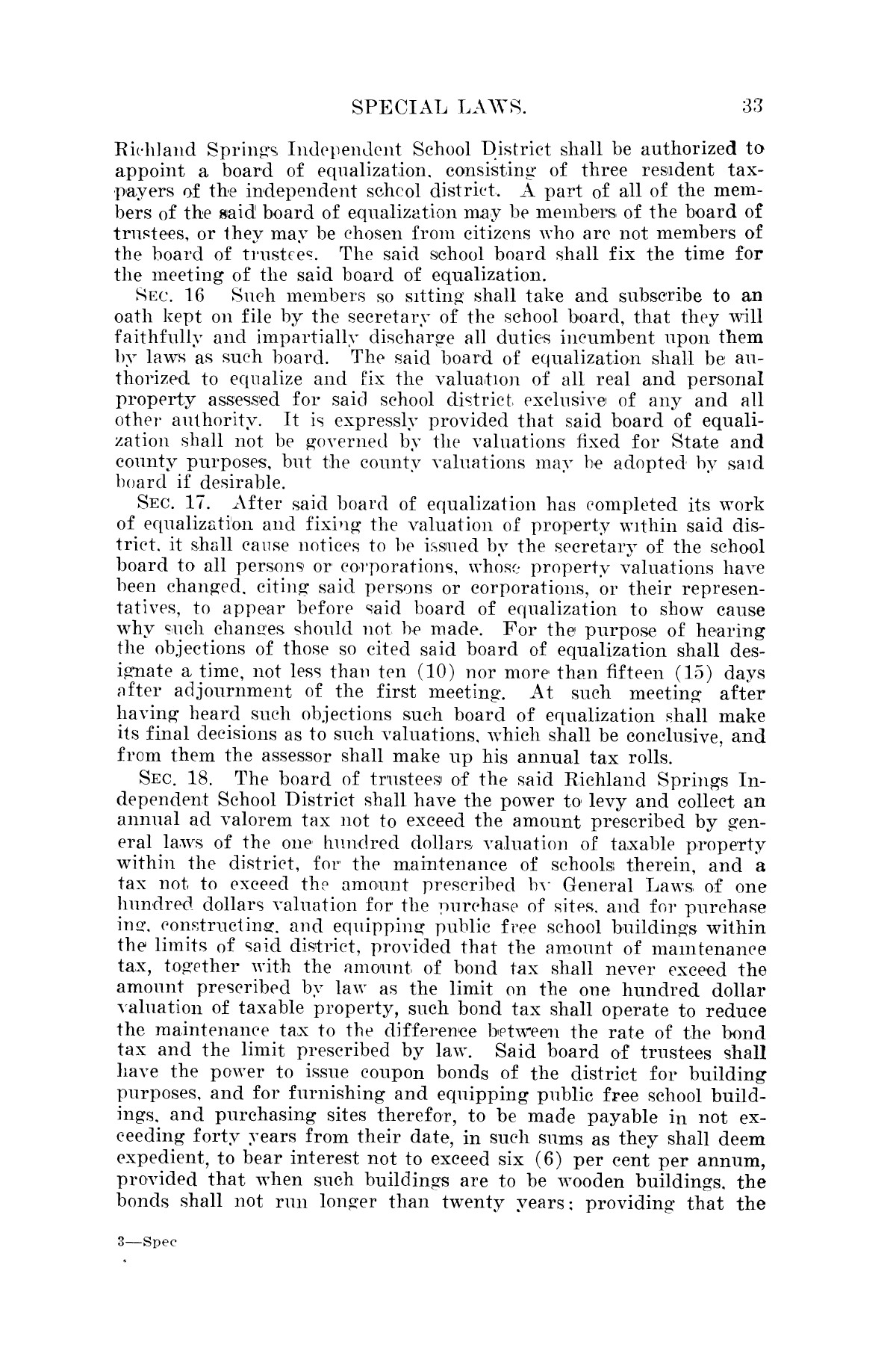 The Laws of Texas, 1923-1925 [Volume 22]                                                                                                      [Sequence #]: 43 of 1648