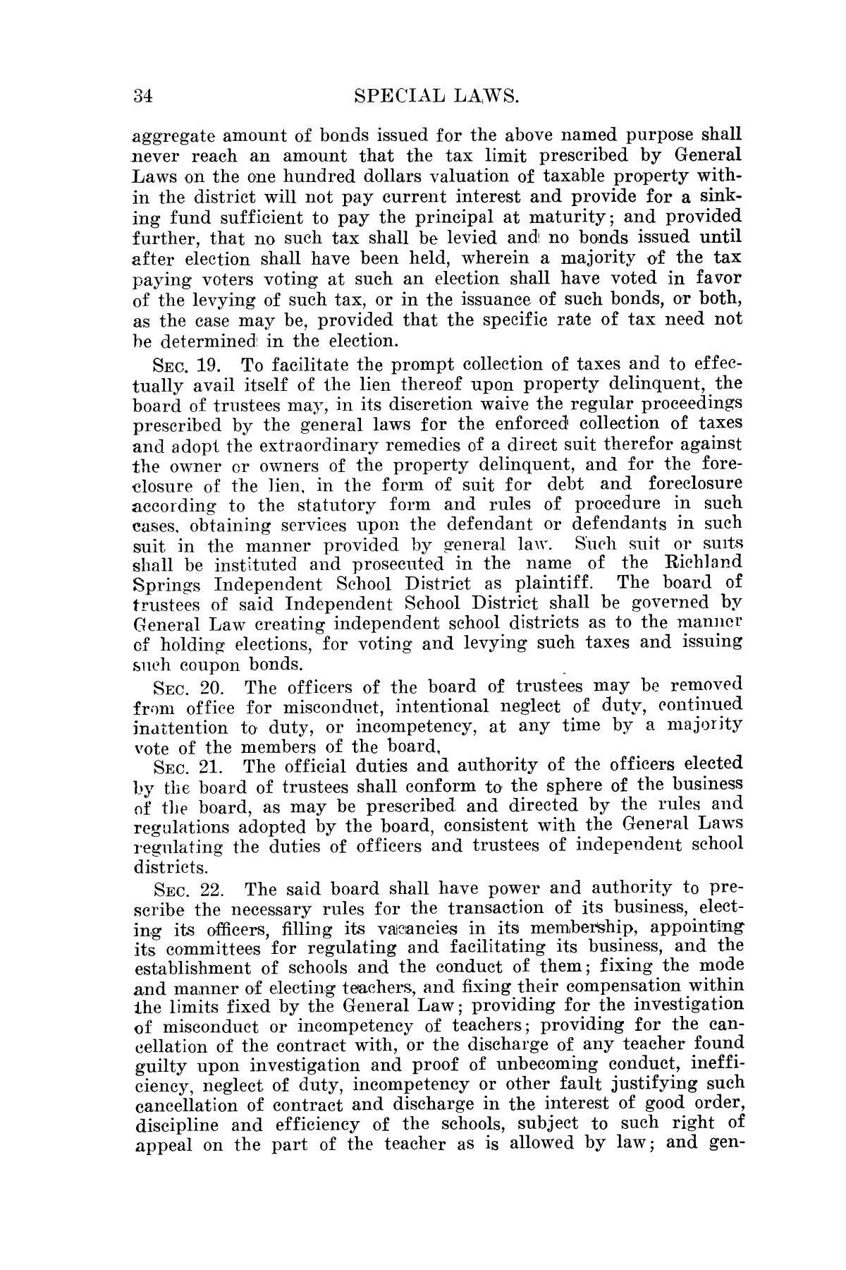 The Laws of Texas, 1923-1925 [Volume 22]                                                                                                      [Sequence #]: 44 of 1648