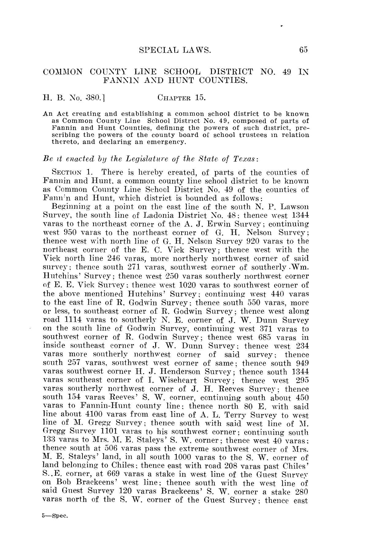 The Laws of Texas, 1923-1925 [Volume 22]                                                                                                      [Sequence #]: 75 of 1648