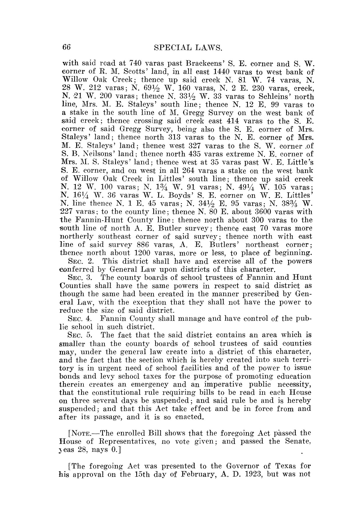The Laws of Texas, 1923-1925 [Volume 22]                                                                                                      [Sequence #]: 76 of 1648
