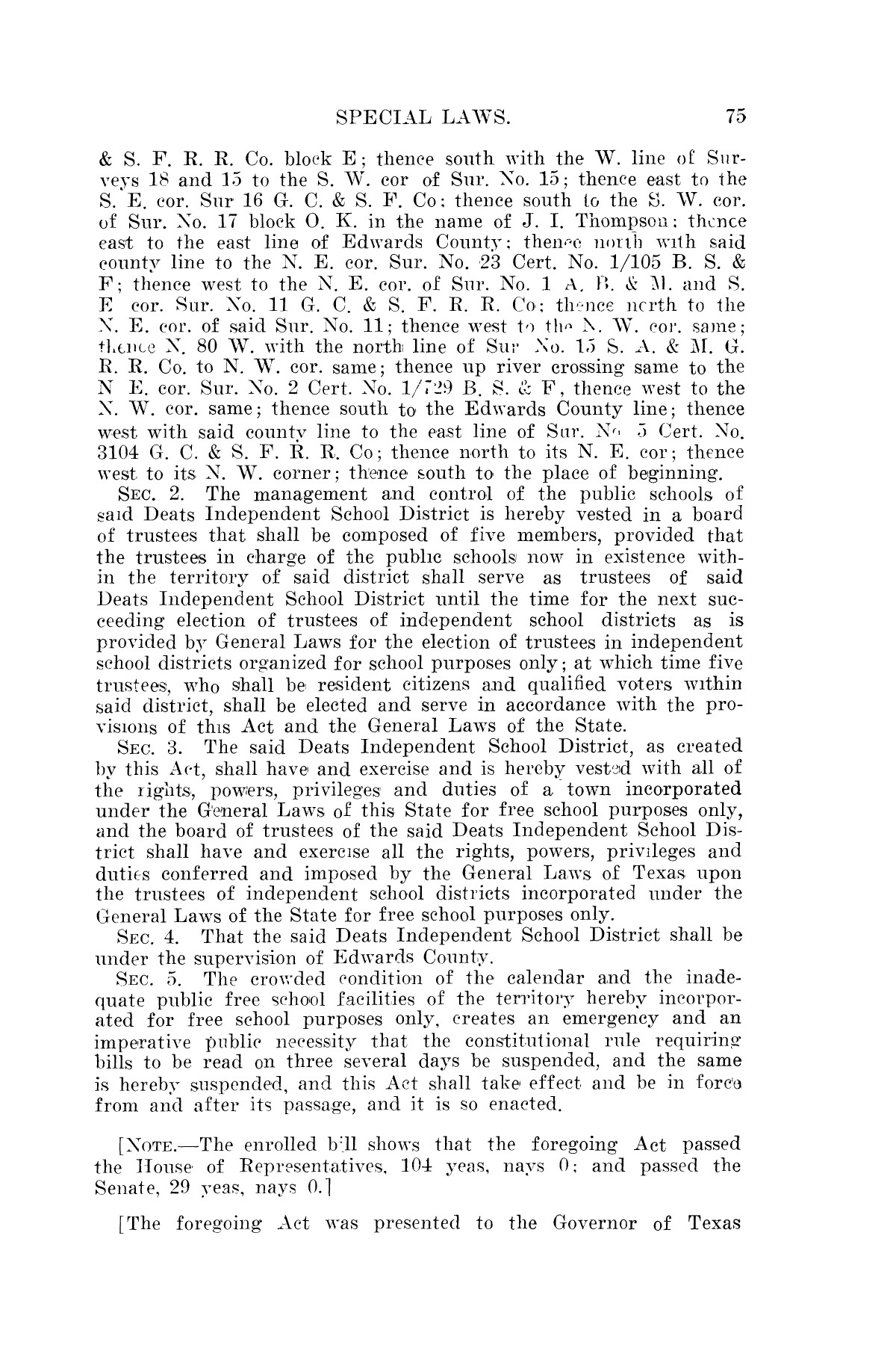 The Laws of Texas, 1923-1925 [Volume 22]                                                                                                      [Sequence #]: 85 of 1648