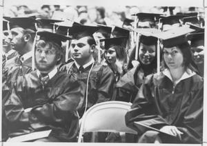 TCJC Students Sitting at Graduation Ceremony
