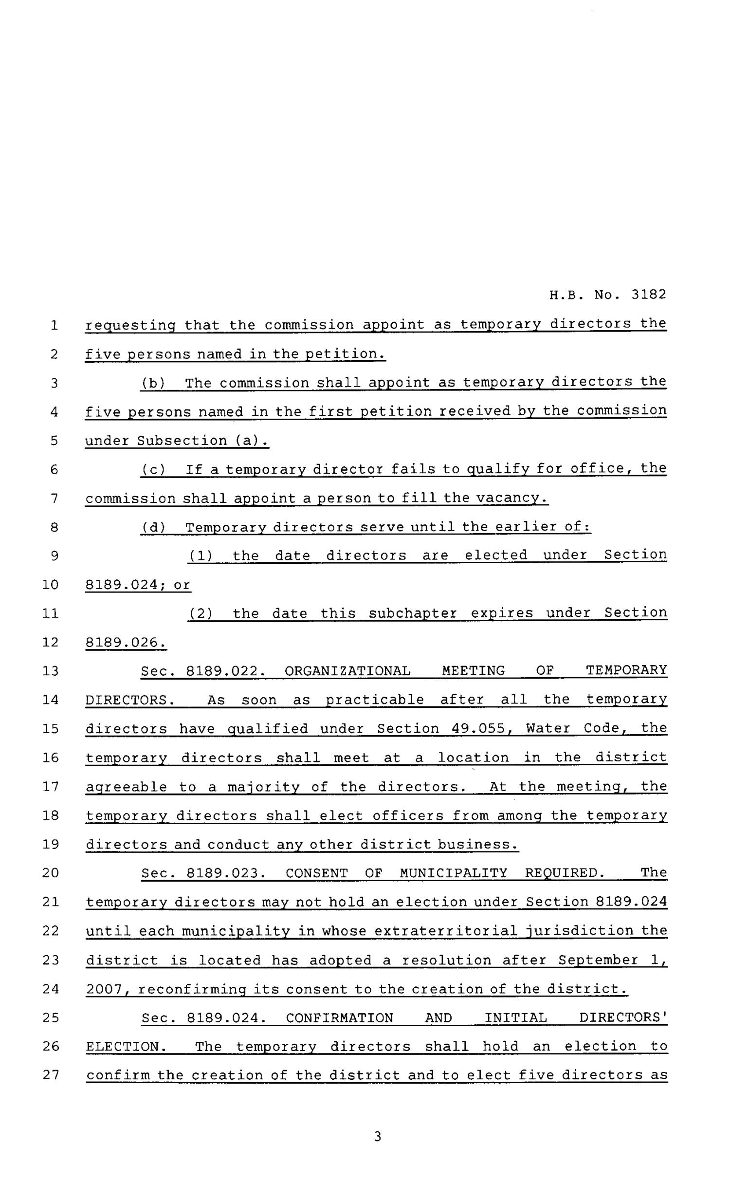 80th Texas Legislature, Regular Session, House Bill 3182, Chapter 752                                                                                                      [Sequence #]: 3 of 22