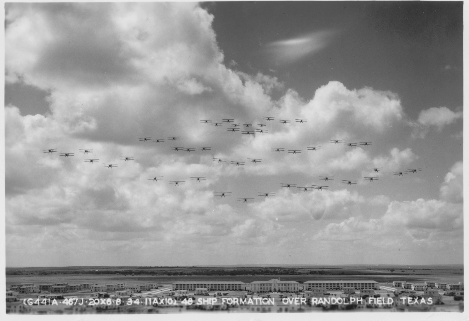 48 Ship [Airplane] Formation Over Randolph Field, Texas                                                                                                      [Sequence #]: 1 of 1