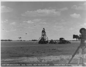 "Primary view of object titled 'M.G.M. Filming ""West Point of the Air""'."