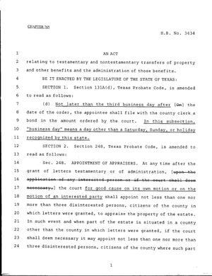 79th texas legislature regular session house bill 3434 chapter 765 79th legislature