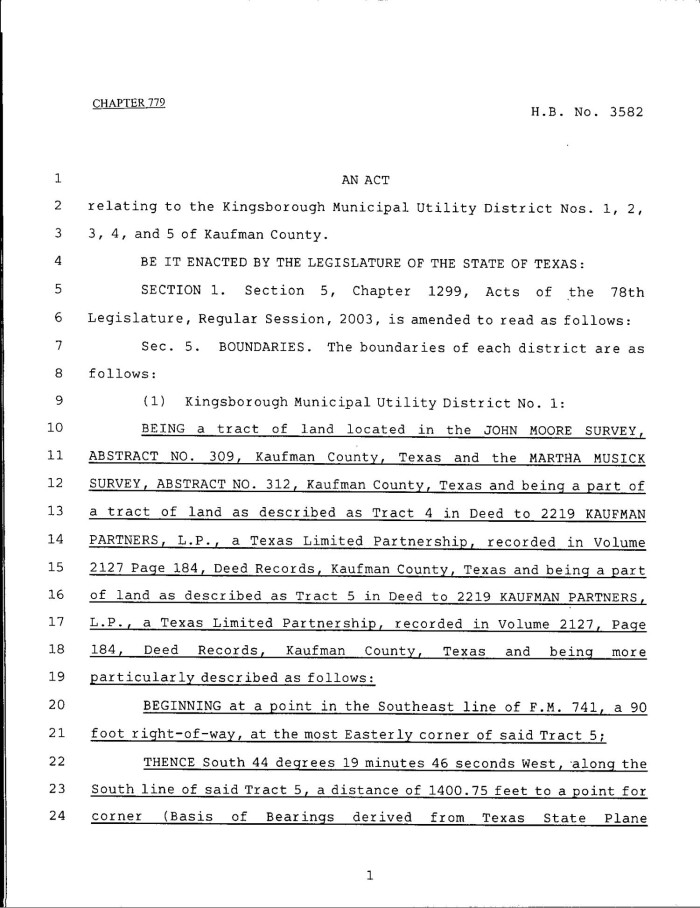 Primary View Of Object Titled U002779th Texas Legislature, Regular Session,  House Bill 3582