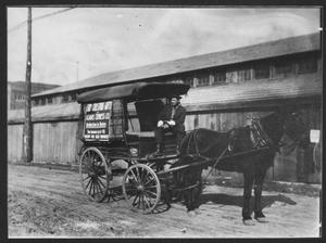 Primary view of object titled 'Adam's Express Company Christmas Gifts Wagon'.
