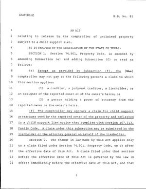 79th Texas Legislature, Regular Session, House Bill 81, Chapter 165
