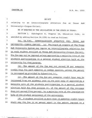 Primary view of object titled '78th Texas Legislature, Regular Session, House Bill 1055, Chapter 86'.