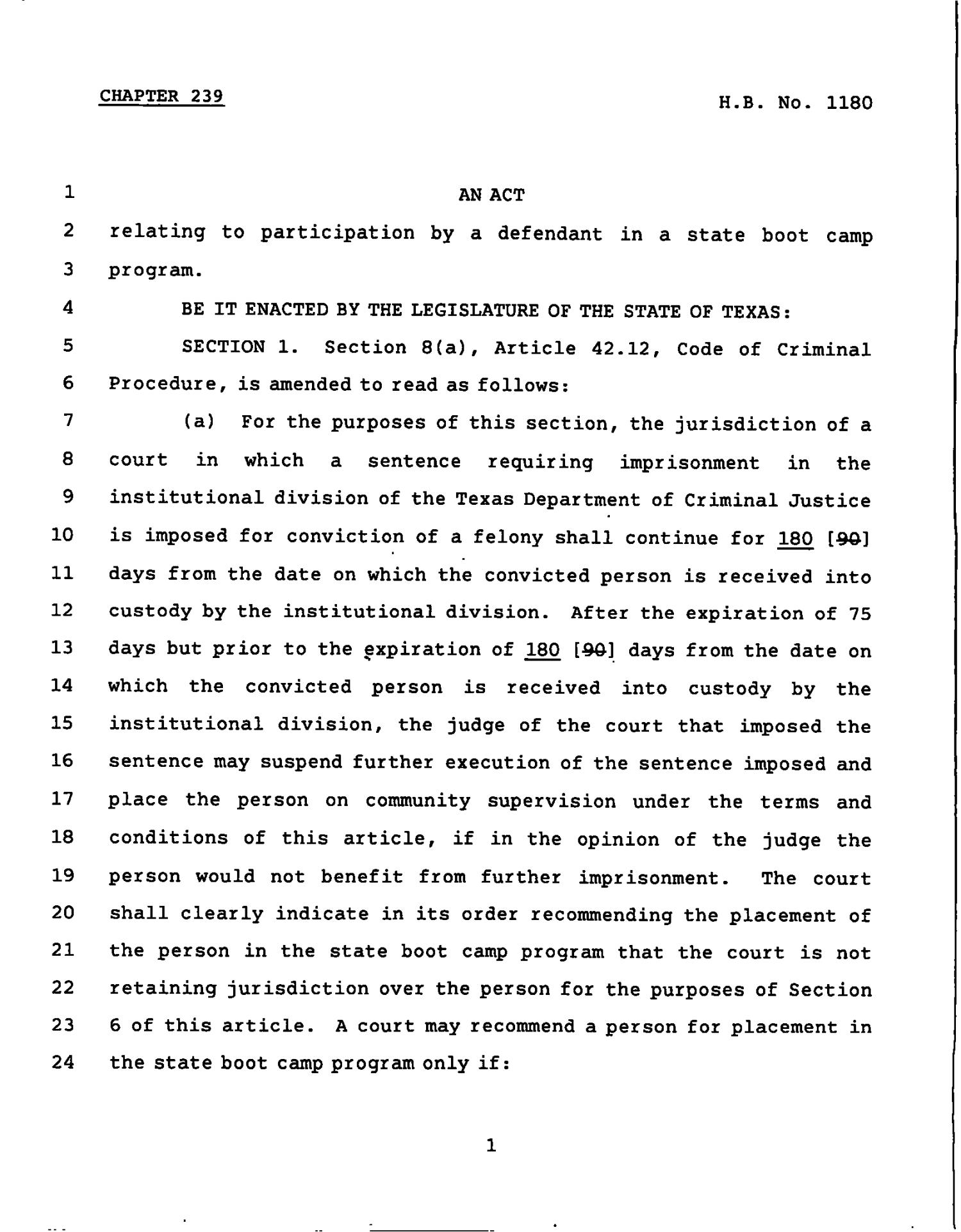 78th Texas Legislature, Regular Session, House Bill 1180, Chapter 239                                                                                                      [Sequence #]: 1 of 4