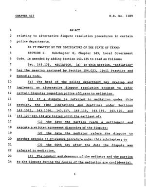 78th Texas Legislature, Regular Session, House Bill 1189, Chapter 517