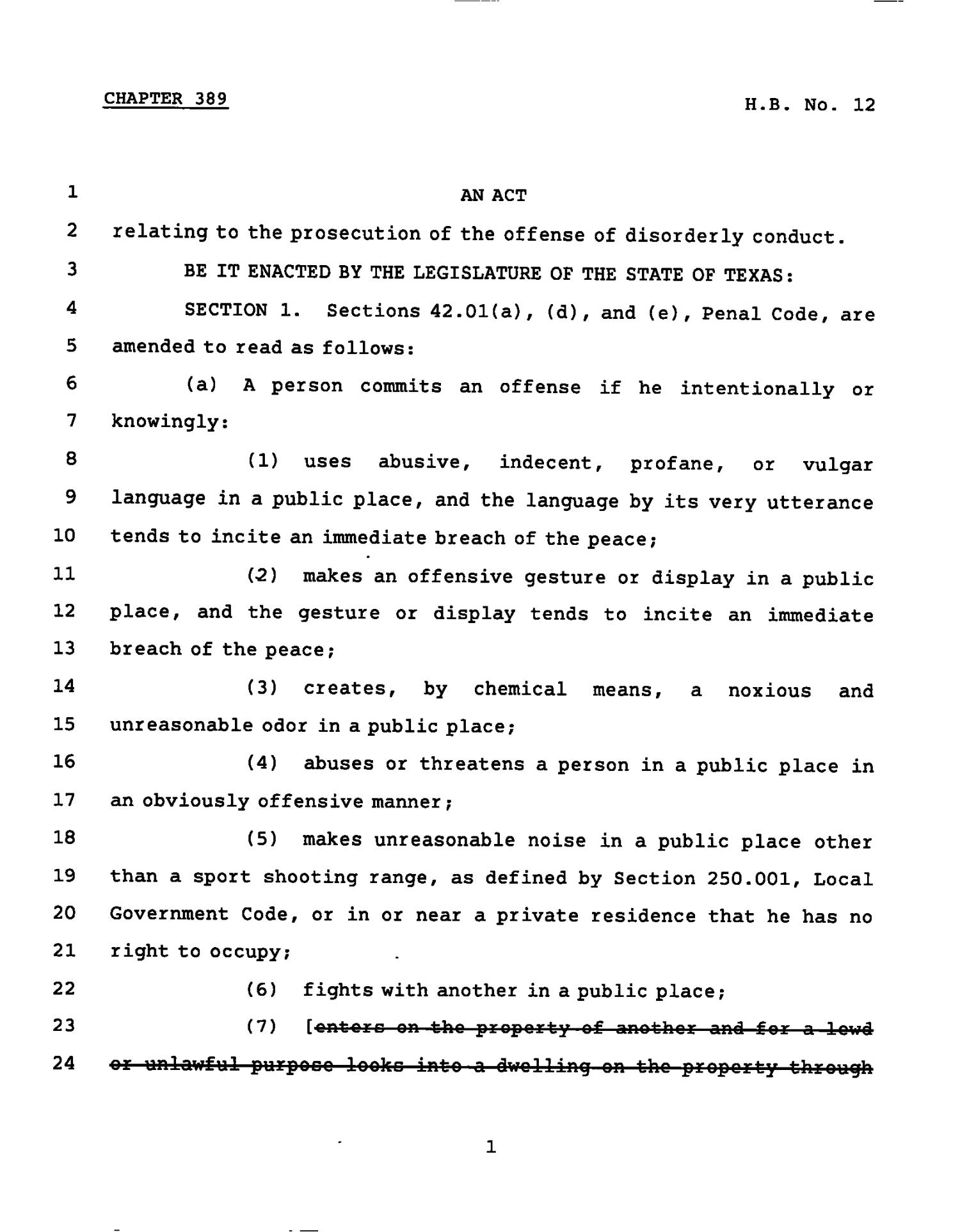 78th Texas Legislature, Regular Session, House Bill 12, Chapter 389                                                                                                      [Sequence #]: 1 of 4
