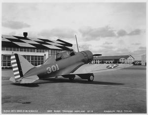 Primary view of object titled 'New Basic Training Airplane BT-8'.