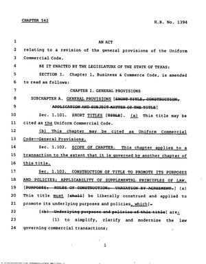 78th Texas Legislature, Regular Session, House Bill 1394, Chapter 542