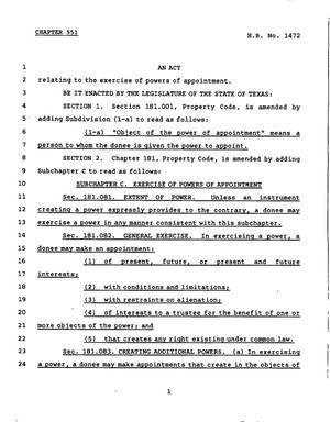 78th Texas Legislature, Regular Session, House Bill 1472, Chapter 551