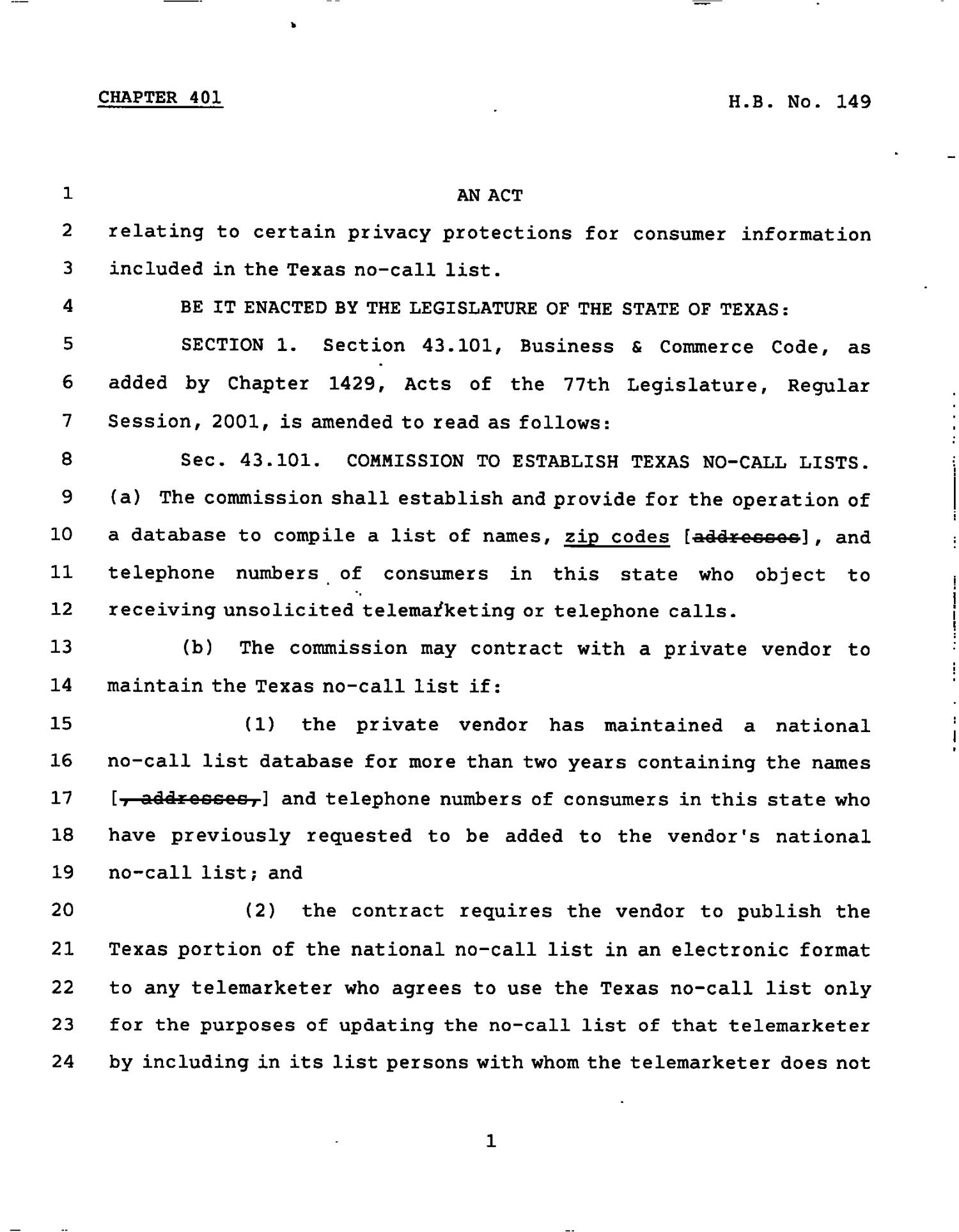 78th Texas Legislature, Regular Session, House Bill 149, Chapter 401                                                                                                      [Sequence #]: 1 of 4