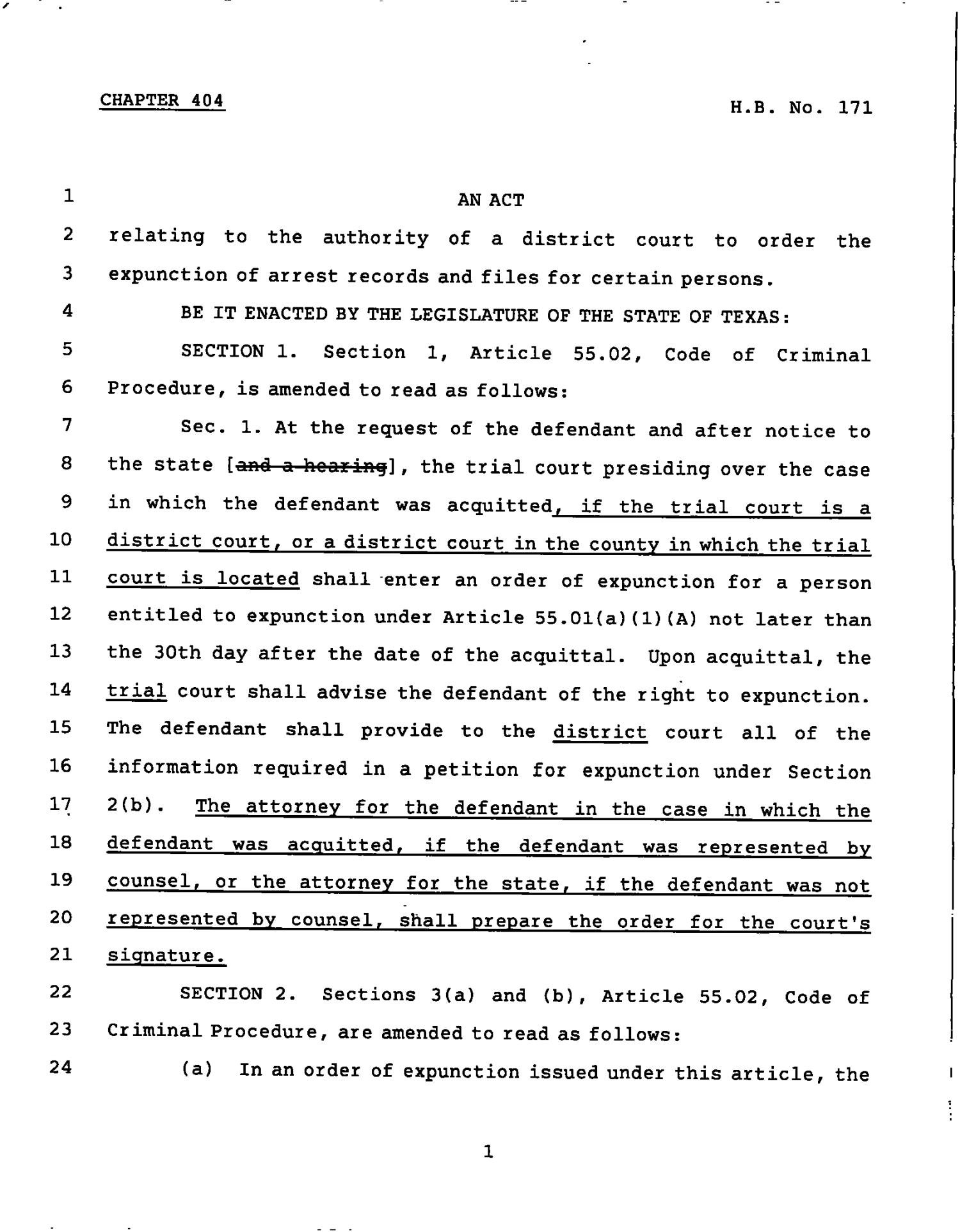 78th Texas Legislature, Regular Session, House Bill 171, Chapter 404                                                                                                      [Sequence #]: 1 of 3
