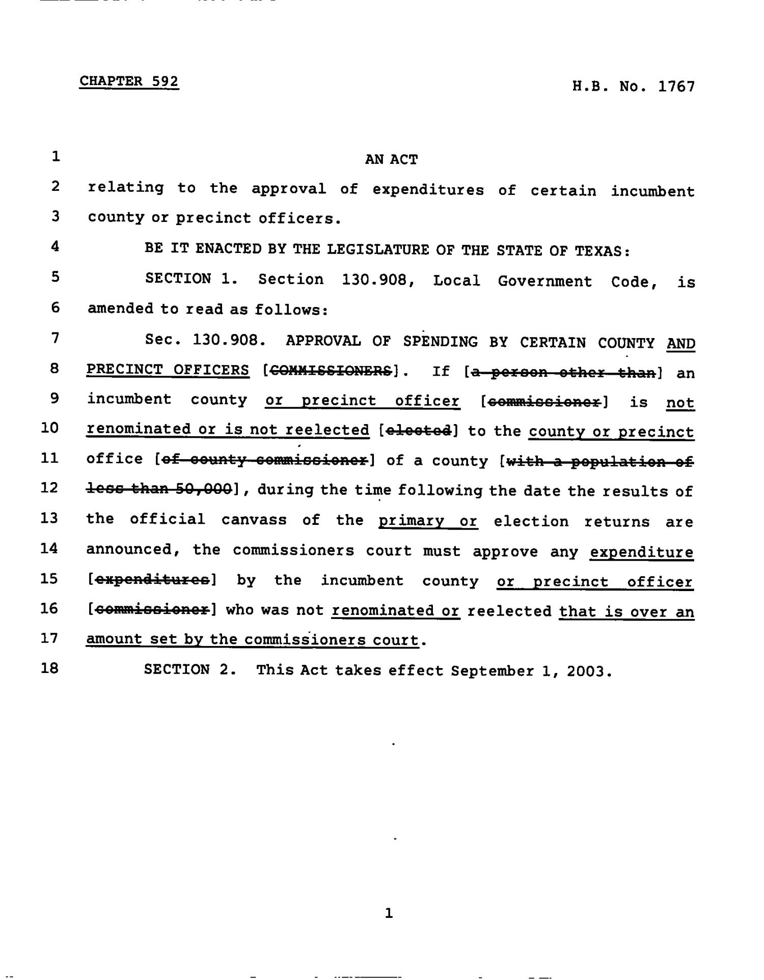 78th Texas Legislature, Regular Session, House Bill 1767, Chapter 592                                                                                                      [Sequence #]: 1 of 2
