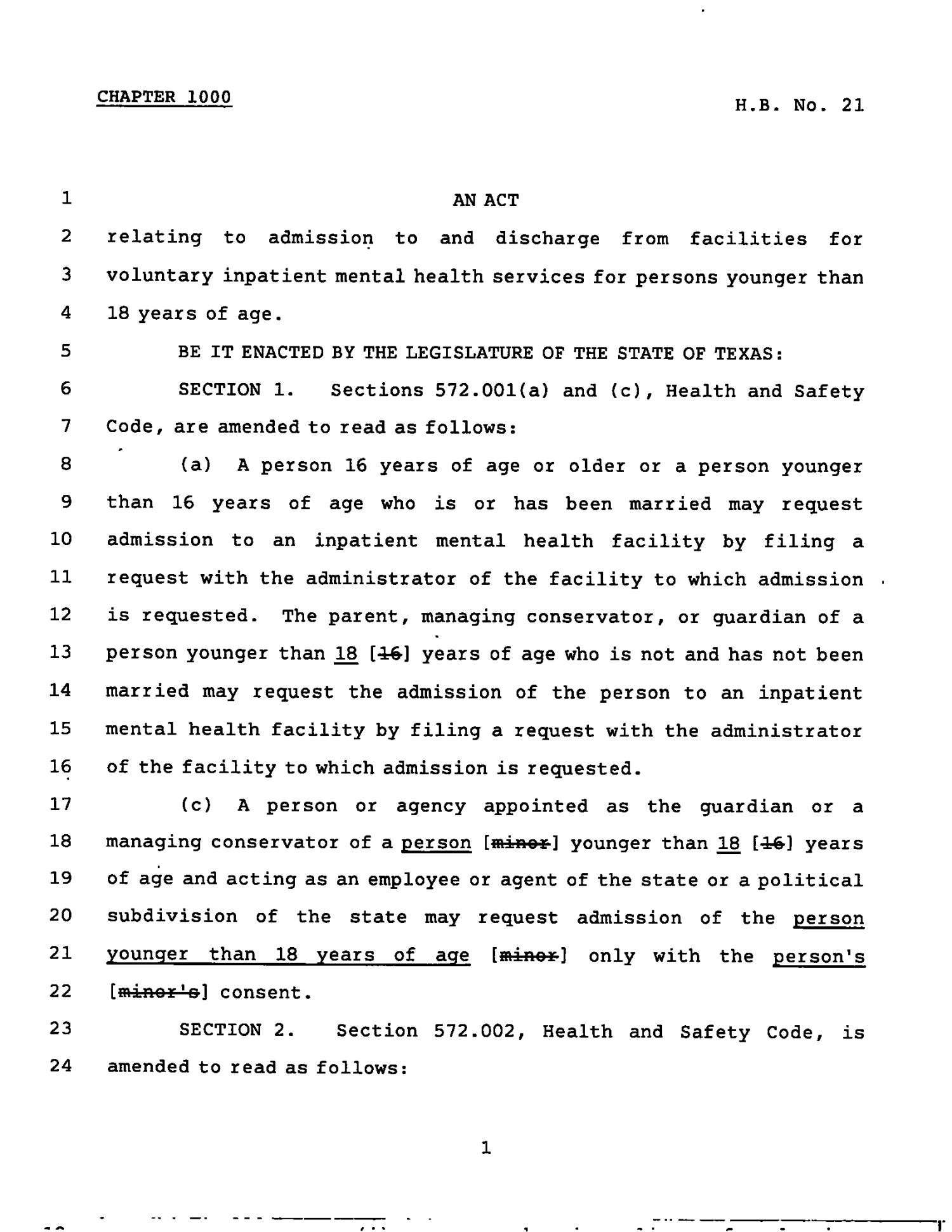 78th Texas Legislature, Regular Session, House Bill 21, Chapter 1000                                                                                                      [Sequence #]: 1 of 4