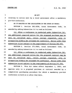 78th Texas Legislature, Regular Session, House Bill 2242, Chapter 660