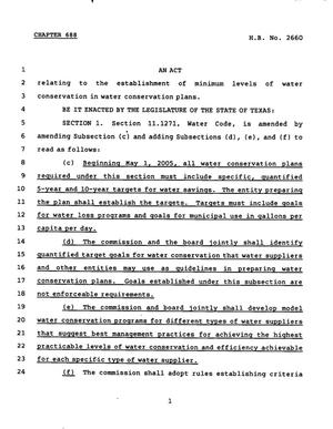 Primary view of object titled '78th Texas Legislature, Regular Session, House Bill 3260, Chapter 688'.