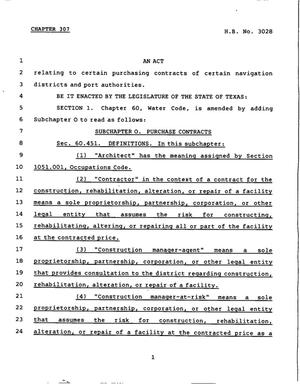 78th Texas Legislature, Regular Session, House Bill 3028, Chapter 307