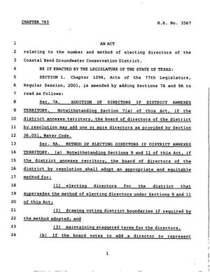 78th Texas Legislature, Regular Session, House Bill 3567, Chapter 763