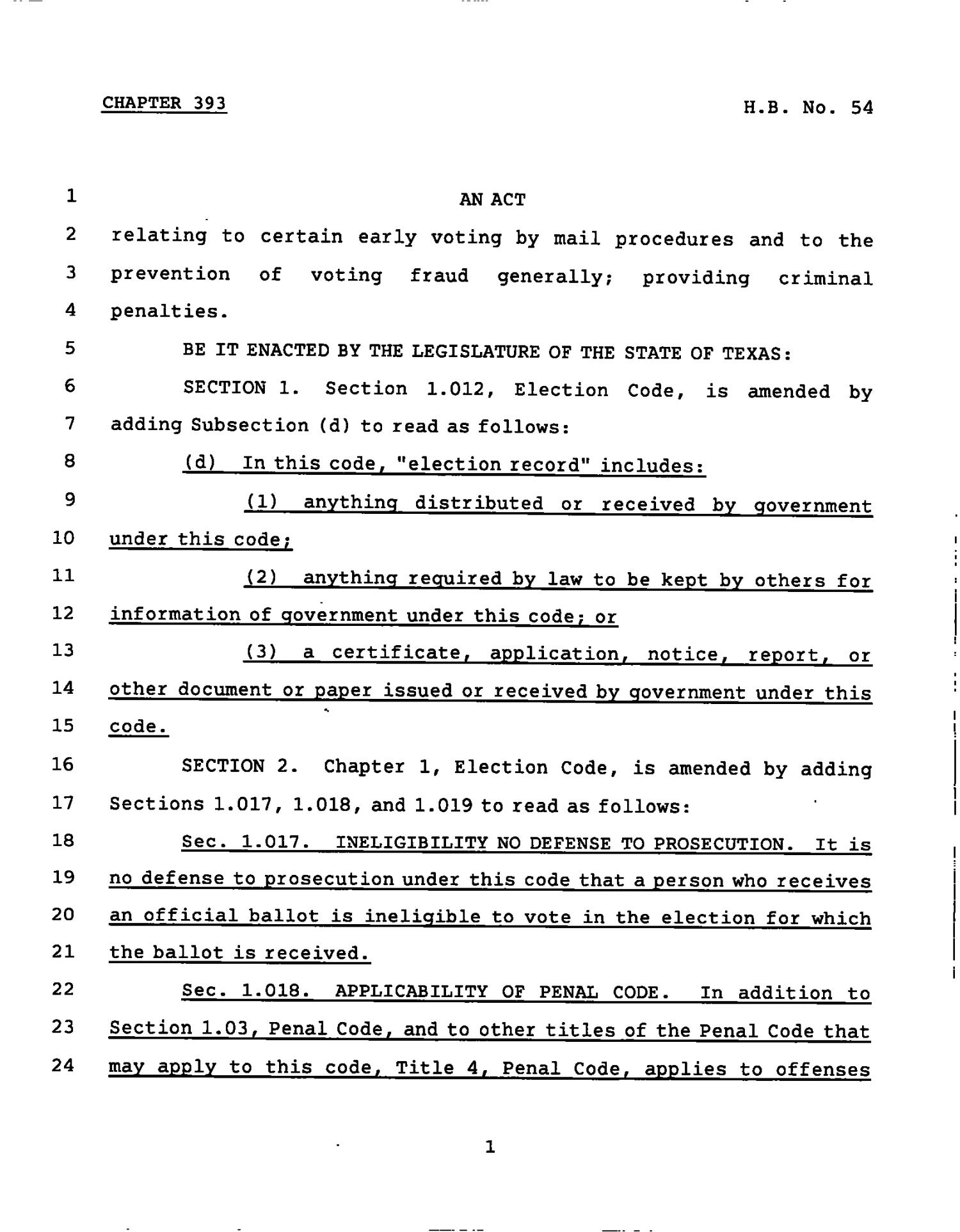 78th Texas Legislature, Regular Session, House Bill 54, Chapter 393                                                                                                      [Sequence #]: 1 of 19