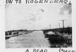 Primary view of object titled '[Photograph of Flooded Road]'.