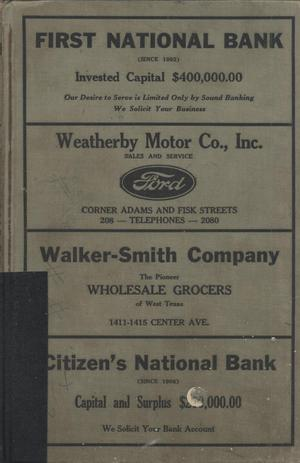 Primary view of object titled 'Worley's Brownwood (Texas) City Directory, 1931'.