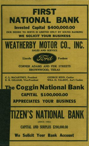 Primary view of object titled 'Worley's Brownwood (Texas) City Directory, 1929-1930'.