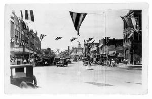 Main Street With Flags