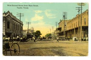 Primary view of object titled 'West Second Street From Main'.