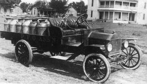 Primary view of object titled '[Milk Delivery Truck]'.
