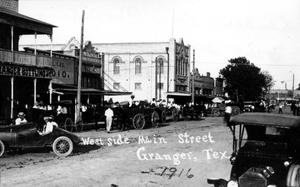 Primary view of object titled '[Main Street of Granger, TX]'.