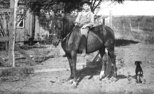 Primary view of object titled '[A Boy on a Horse]'.