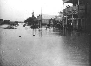 Primary view of object titled '[Flooded streets of Granger]'.