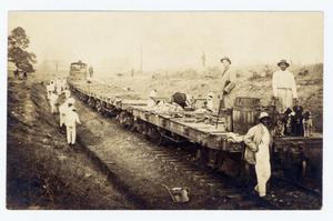 Primary view of object titled '[Prisoners Working on the Texas State Railroad]'.