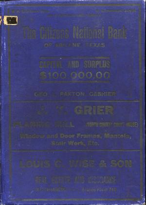 Directory of Abilene, Texas, 1907-08
