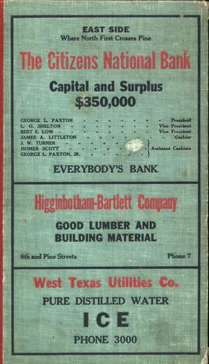 Primary view of object titled 'Worley's Abilene (Texas) City Directory, 1928'.