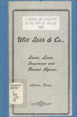 Primary view of object titled 'Census and Directory of the City of Abilene, 1901'.