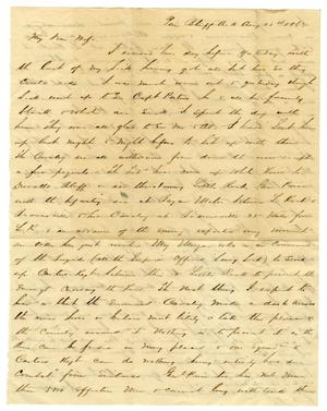 Primary view of object titled '[Letter from David Fentress to his wife Clara, August 28, 1863]'.