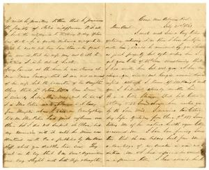 Primary view of object titled '[Letter from David Fentress to his Aunt, July 21, 1863]'.