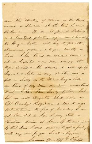 Primary view of object titled '[Letter from David Fentress,1863]'.