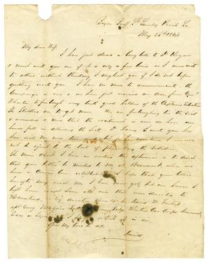 Primary view of object titled '[Letter from David Fentress to his wife Clara, May 26, 1864]'.