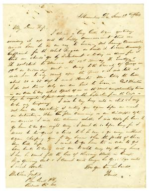 Primary view of object titled '[Letter from David Fentress to his wife Clara, June 19, 1864]'.