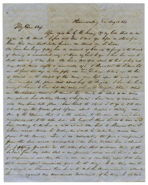 Primary view of object titled '[Letter from David Fentress to his wife Clara, August 16, 1864]'.